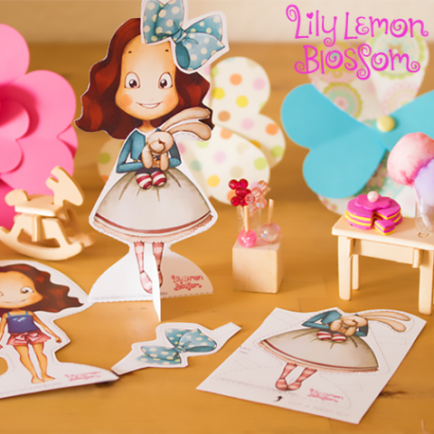 Lily Lemon Blossom Best Friends Paper Doll